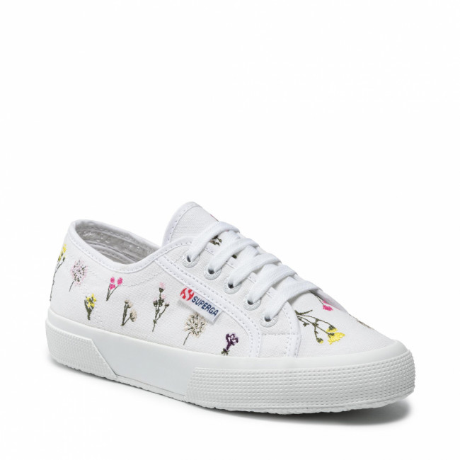 Tenisky SUPERGA - 2750 Flower Bloom Embroidery S31111W White Flowers A9K