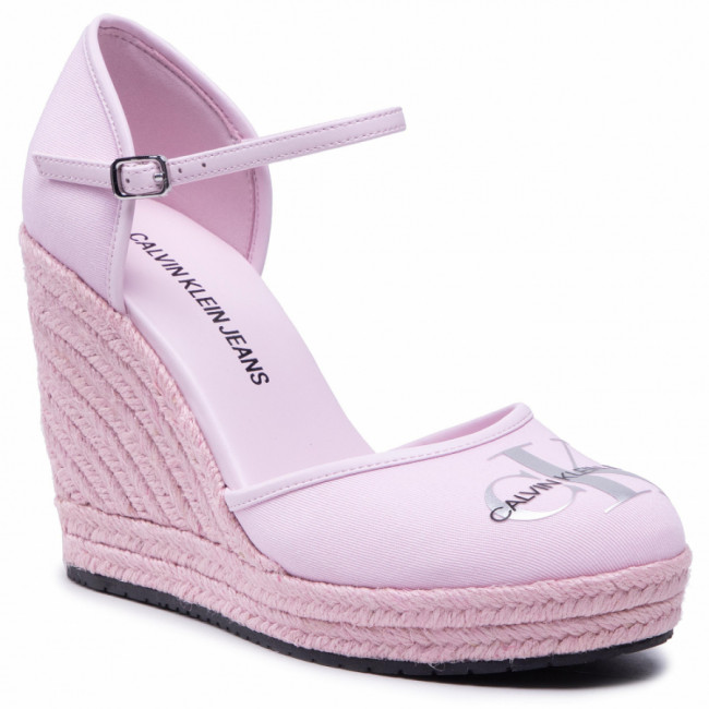 Espadrilky CALVIN KLEIN JEANS - Wedge Sandal Close Toe Co YW0YW00150 Pearly Pink TN9
