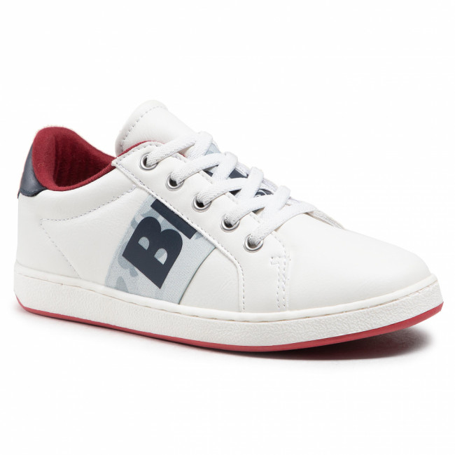 Sneakersy BLAUER - S1BUZZ06/PUC M White/Navy/Red