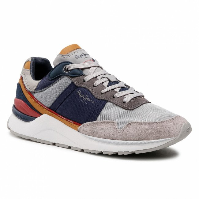 Sneakersy PEPE JEANS - X20 Basic Sport PMS30751  Grey 945
