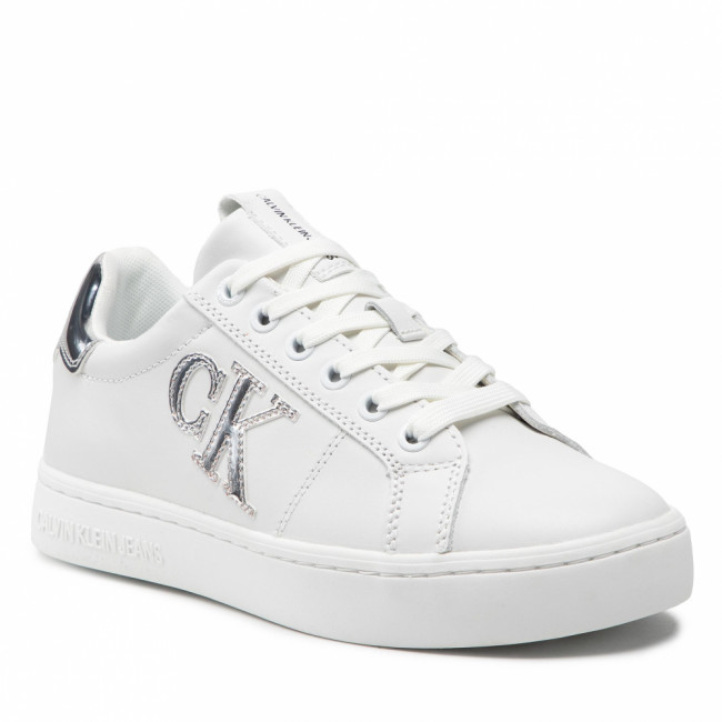 Sneakersy CALVIN KLEIN JEANS - Cupsole Laceup Sneaker Logo M  Bright White YAF