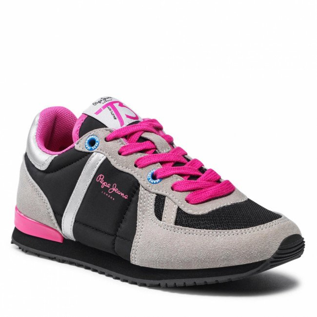 Sneakersy PEPE JEANS - Sydney Combi Girl PGS30515  Grey 945